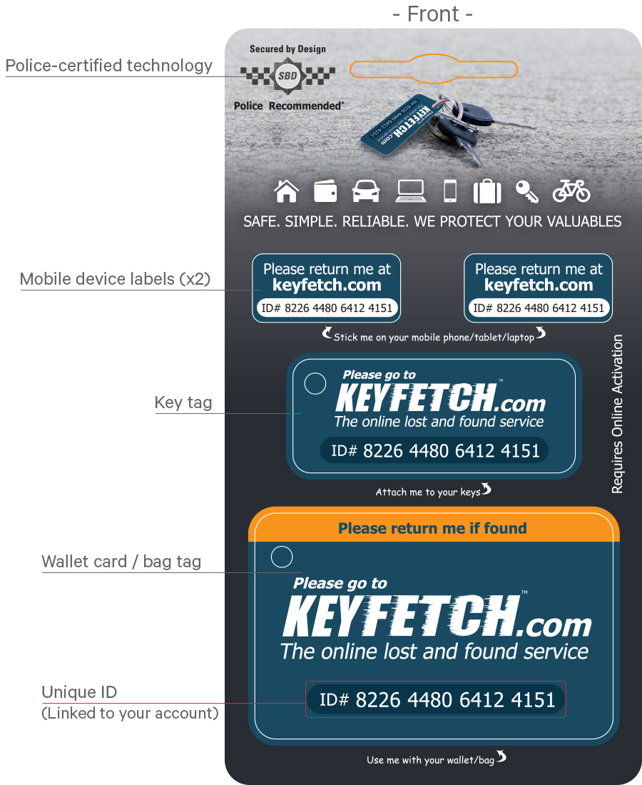 Keyfetch Pack - Front